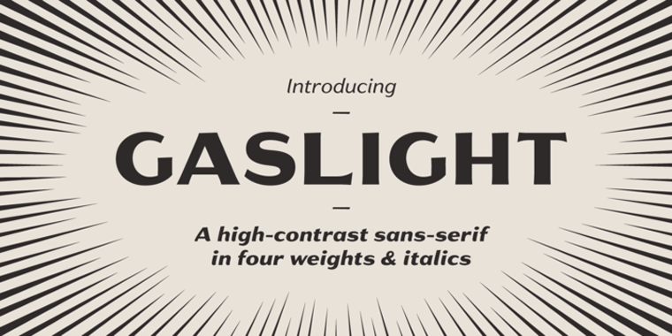 Gaslight Black Beautiful Sample
