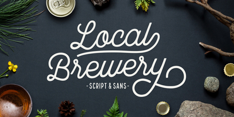 Local Market Free Official Font Sample